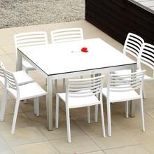 Jan Kurtz - Quadrat Gartentisch Gestell Aluminium
