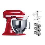 KitchenAid - Artisan Pasta Set - rot/lackiert/Inkl. Zubehör: KPRA+5KPDR-CLR