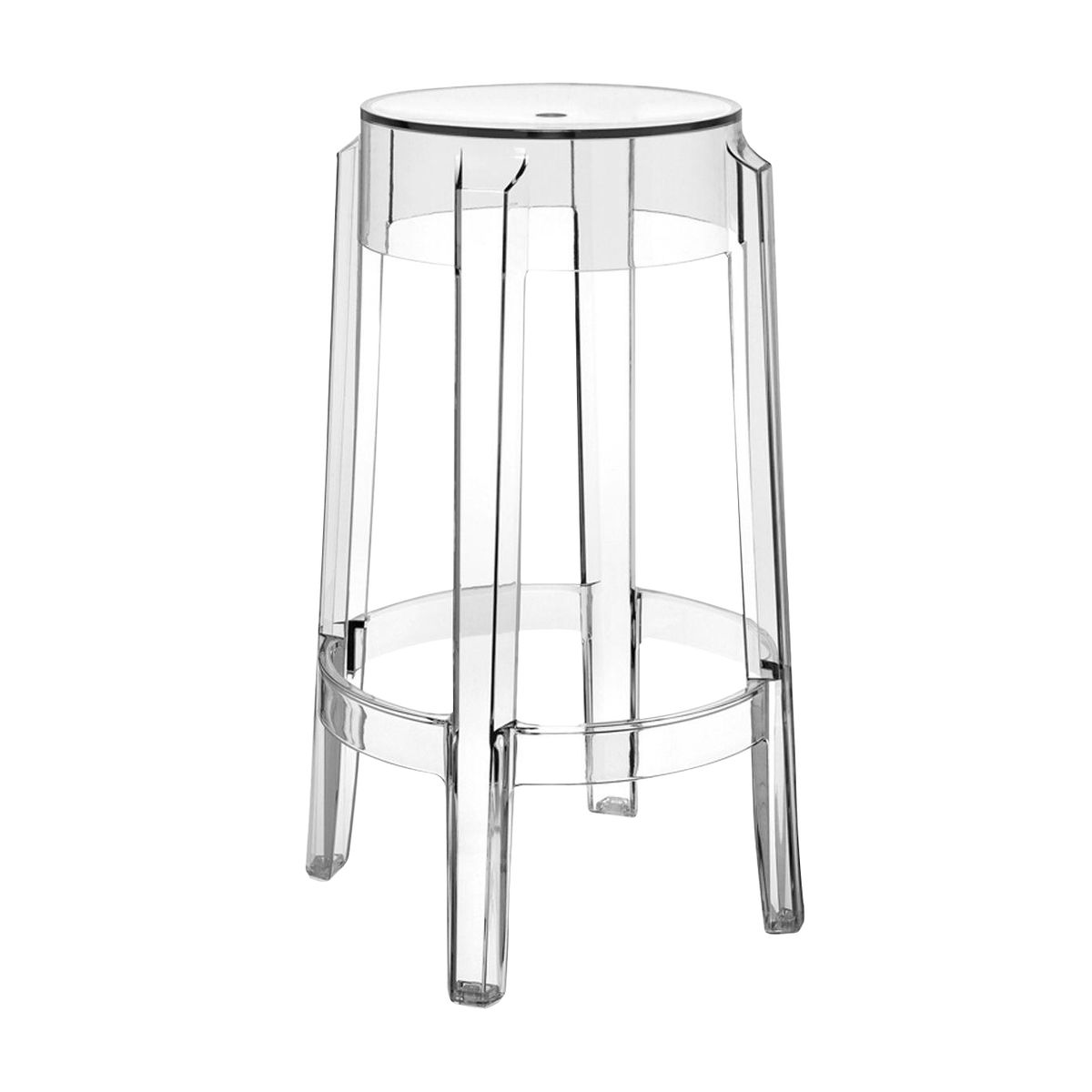 Kartell - Charles Ghost Stool 65cm - transparent/seat height 65cm  sc 1 st  AmbienteDirect : ghost chair stool - islam-shia.org