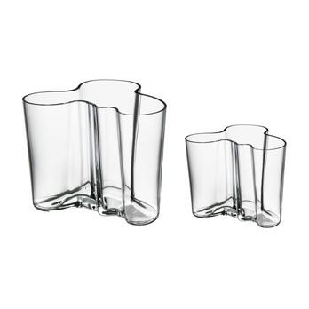 iittala - Aktionsset Alvar Aalto Vasen 2 Stk. - transparent/1x Vase 160mm + 1x Vase 95mm
