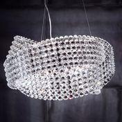 Marchetti - Diamante 65 Suspended Lamp - transparent/glass/Ø65cm