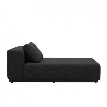 Softline - Nevada Chaiselongue - anthrazit/Stoff Filz 610/BxHxT 172x75x90cm/Gestell schwarz