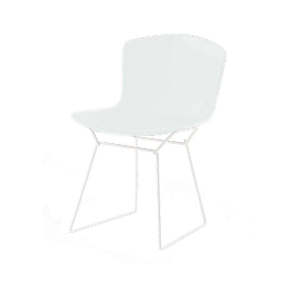 Bertoia chair white - Knoll International Bertoia Plastic Side Chair White White Polypropylene Frame White