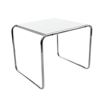 Knoll International - Laccio Couchtisch quadratisch - weiß/Laminat/55x48x45cm