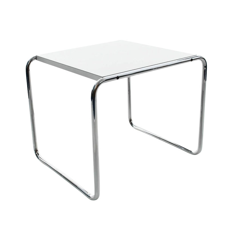 Knoll International   Laccio   Table De Salon Carrée    Blanc/stratifié/55x48x45cm