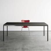 Lehni - Auszugtisch - schwarz/Kunstharz/Gestell schwarz