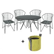 Fermob: Brands - Fermob - Rendez-vous Flower Set 4 Armchairs+1 Table
