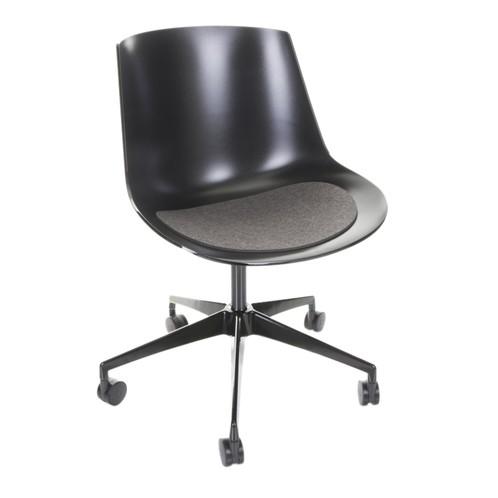 Hey-Sign - Hey-Sign Sitzauflage Flow Chair antirutsch - anthrazit/Filz/43.7 x 36 cm