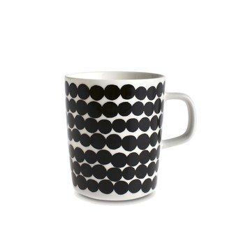 Marimekko - Räsymatto Becher 400ml - schwarz/weiß/Ø x H: 9.5 x 10cm