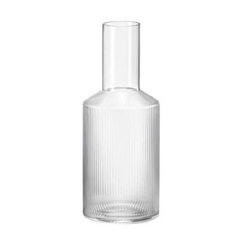 ferm LIVING - Ripple Karaffe - transparent/mundgeblasenes Glas/H 34cm/Ø 9cm