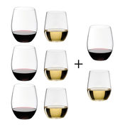 Riedel - O Wine Weinglas Geschenksets 6+2