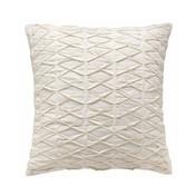 Schöner Wohnen Kollektion - Stitch Kissenbezug 45x45cm - weiß/Rückseite ohne Muster