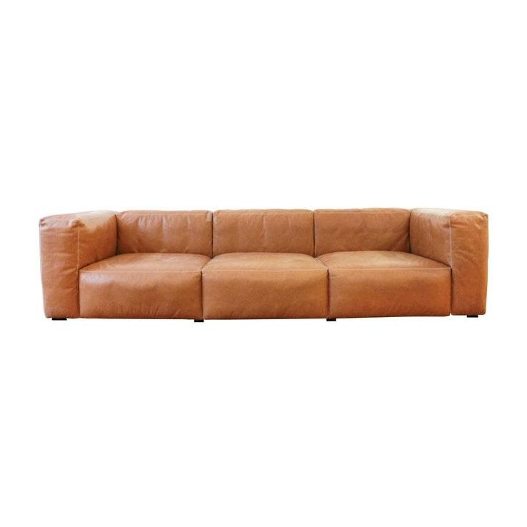 Cognac Leather Sofa - Probrains.Org