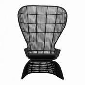 B&B Italia - Crinoline Sessel - schwarz/bronze//Geflecht/inkl. Sitzkissen Stoff Eletto schwarz