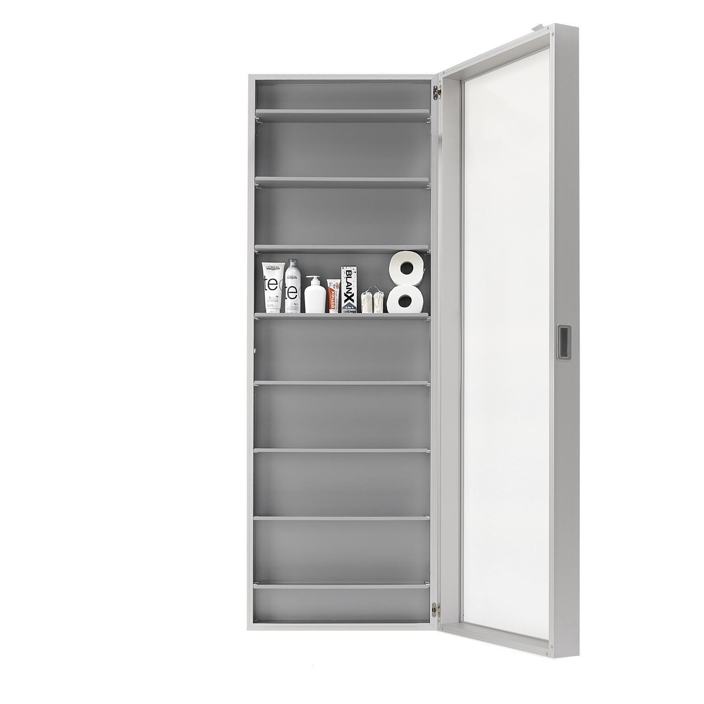 Kristalia   Duty Box Wall Cabinet   Aluminium/mirror ...