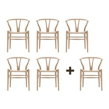 Carl Hansen - Promotion Set 5+1 Wishbone CH24 Armchair