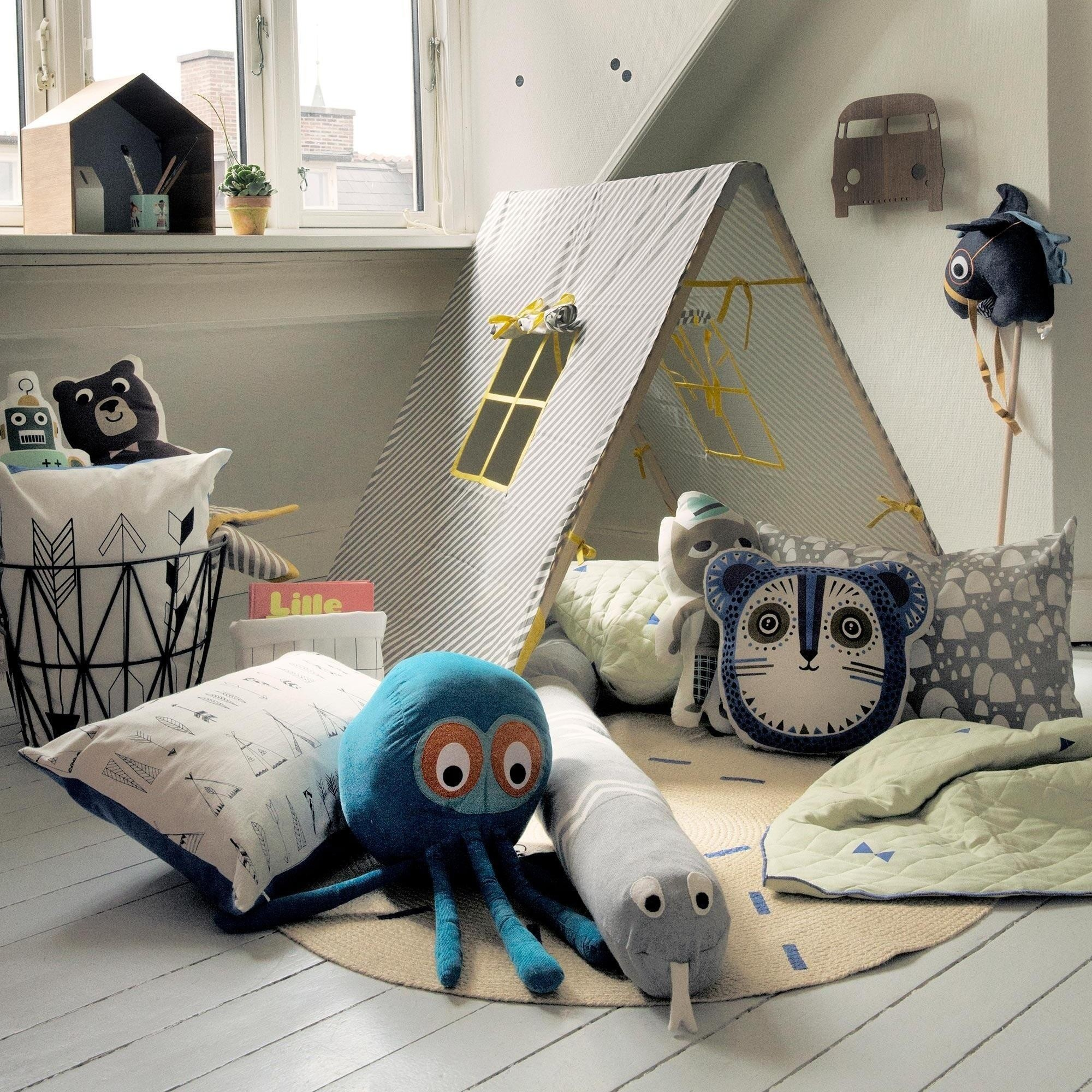 ... Ferm LIVING   Mr. Cat Kids Animal Cushions ...