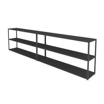 HAY - New Order Sideboard 300x74cm - charcoal dunkelgrau/lackiert