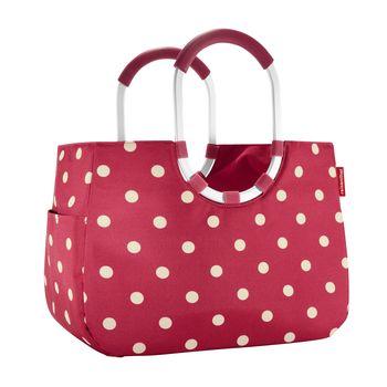 Reisenthel - Reisenthel loopshopper L Einkaufstasche - ruby dots/wasserabweisend/Innentasche mit Reißverschluss/LxBxH 46x25x34.5cm