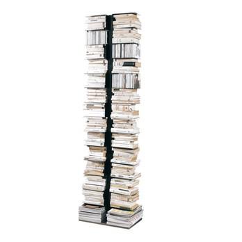 Opinion Ciatti - Ptolomeo X2 Büchersäule - schwarz/lackiert/Fuß edelstahl/30x50x192cm