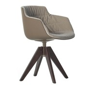MDF Italia - Flow Slim Armchair VN Oak Legs Upholstered