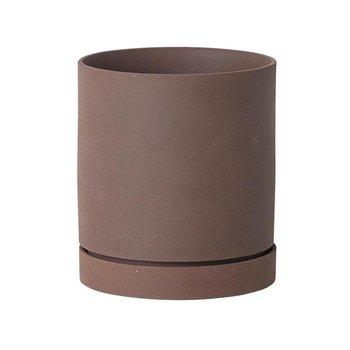 ferm LIVING - ferm LIVING Sekki Pot Blumentopf L - Rost/H: 17,7cm x Ø: 15,7cm