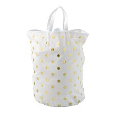 Bloomingville - Golden Dots - Sac de linge