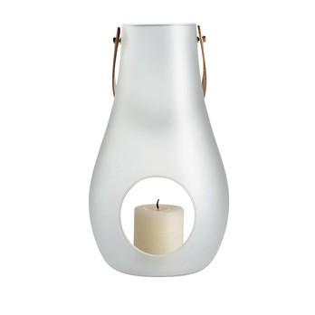 Holmegaard - Design with Light Laterne satiniert XL - weiß/satiniert/H: 45cm