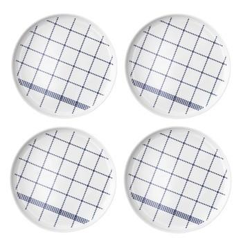Normann Copenhagen - Mormor Blue 4 Teller - weiß/4 Stück