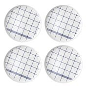 Normann - Mormor Blue 4 Plates - white/4 pieces