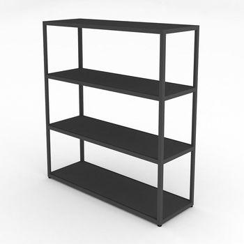 HAY - New Order Regal 100x110cm - charcoal dunkelgrau/lackiert