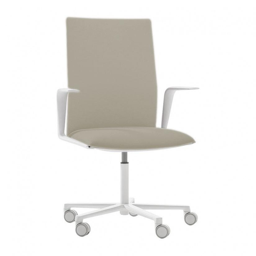 Arper   Kinesit 4825 Office Chair With Armrests   Eggshell/fabric Steelcut  2 110/ ...