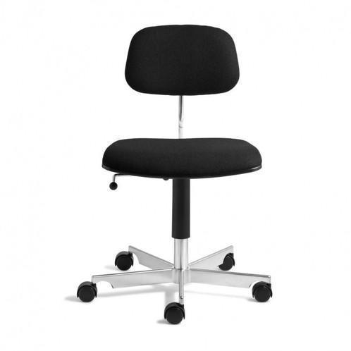 Engelbrechts - Kevi 2534 Bürostuhl - schwarz/Stoff Tonus 128/mit weich gebremsten Rollen/gepolsterte Sitz- und Rückenschale