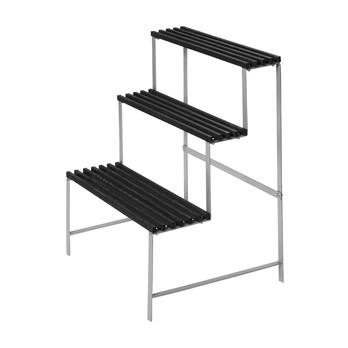 DesignHouseStockholm - DesignHouseStockholm Pflanzenständer - Esche dunkelgrau/lackiert/Gestell Metall/65x78x53cm