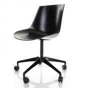 MDF Italia - Flow Drehstuhl mit Rollen - schwarz/glänzend/Einzelstück - nur einmal verfügbar!