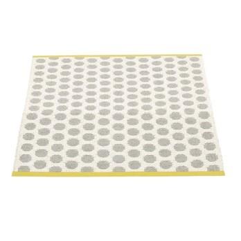 pappelina - Noa Teppich 70x90cm - grau/vanille/senfgelber Streifen/wendbar