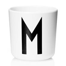 Design Letters - Design Letters Melamin Becher A-M Weiß S