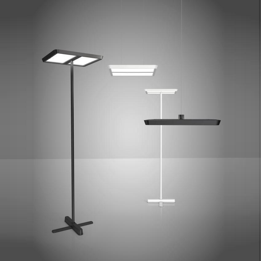 Belux Karo 12 Led Floor Lamp Asymmetrical Ambientedirect