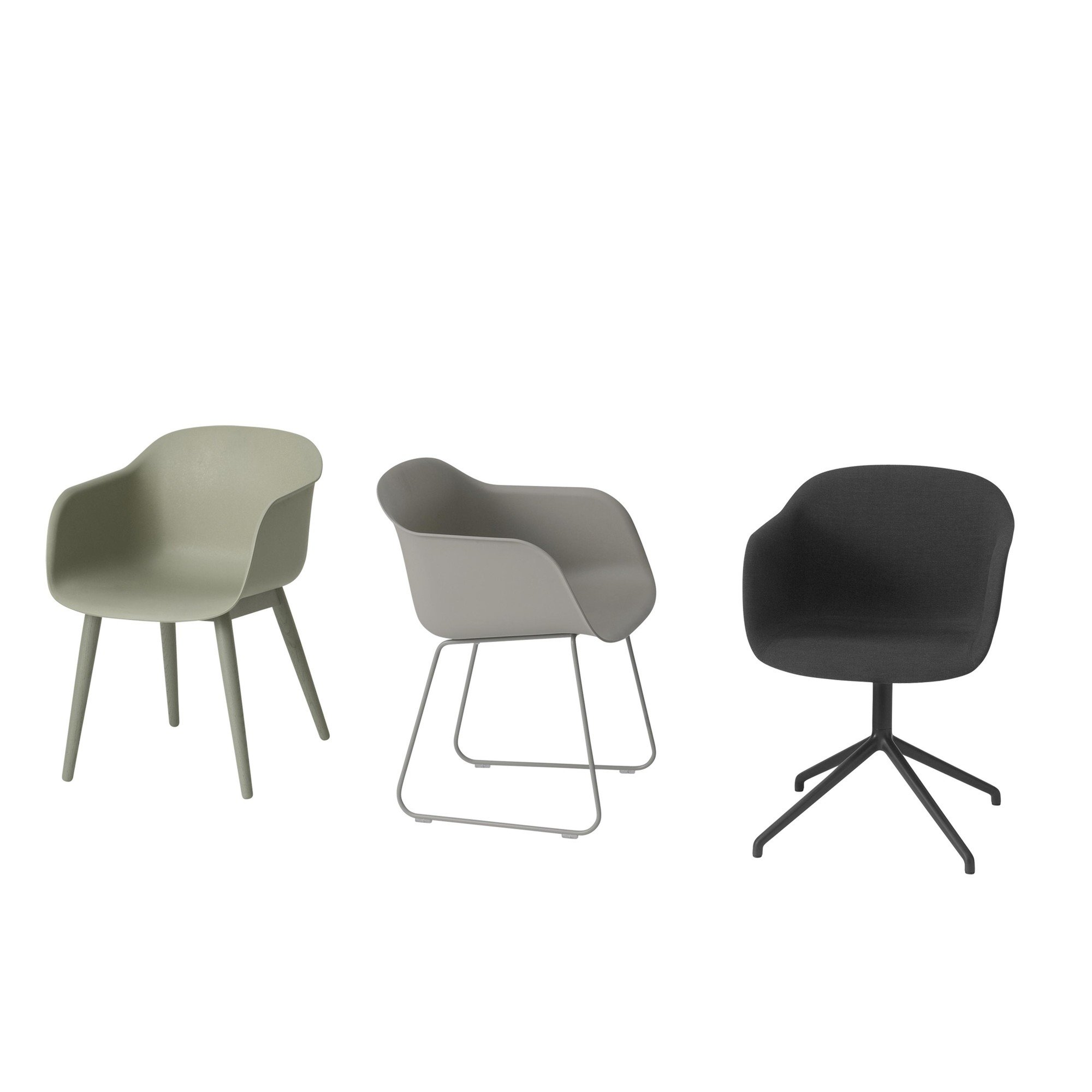 muuto fiber chair armchair with sled base ambientedirect. Black Bedroom Furniture Sets. Home Design Ideas