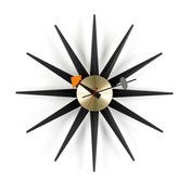 Vitra - Sunburst Clock Nelson Wanduhr - schwarz/messing/Ø47cm