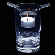 mono - Mono Wing Teelicht-Einsatz universal - edelstahl/gebürstet/LxBxH 11,5x6x2 cm