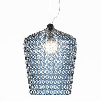 Kartell - Kabuki Pendelleuchte - hellblau/transparent/H x Ø: 73 x 50cm