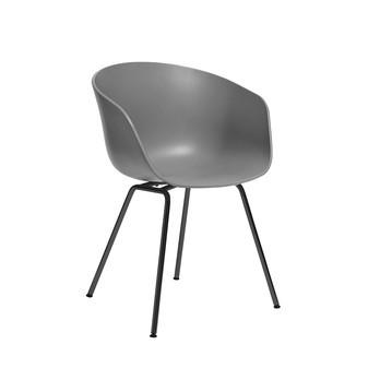HAY - About a Chair 26 Armlehnstuhl Color - grau/Gestell schwarz