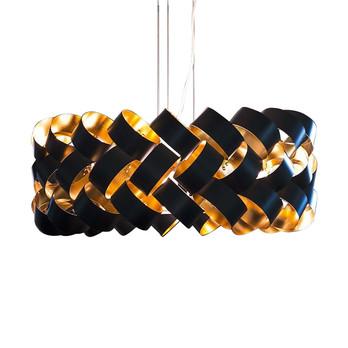 Pallucco - Ring Pendelleuchte - schwarz/gold/lackiert/H39cm/Ø60cm/ohne Leuchtmittel