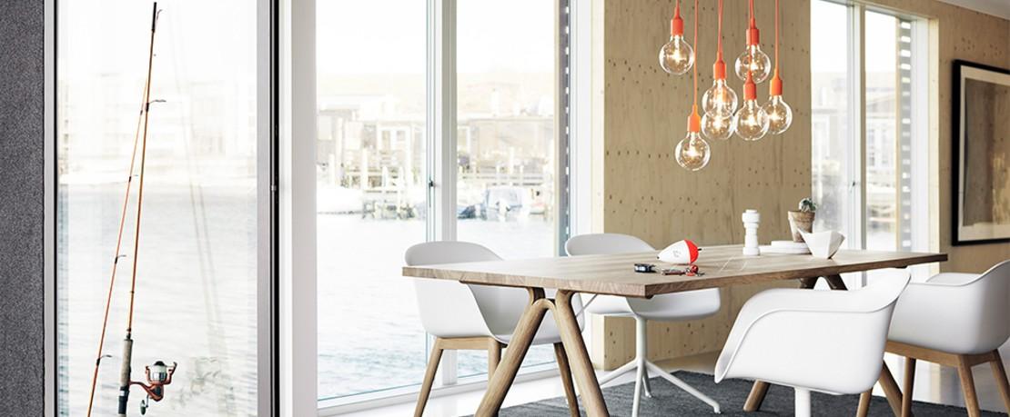 Muuto Esstisch mit Fiber Stuhl