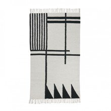 ferm LIVING - Kelim Black Lines Rug small