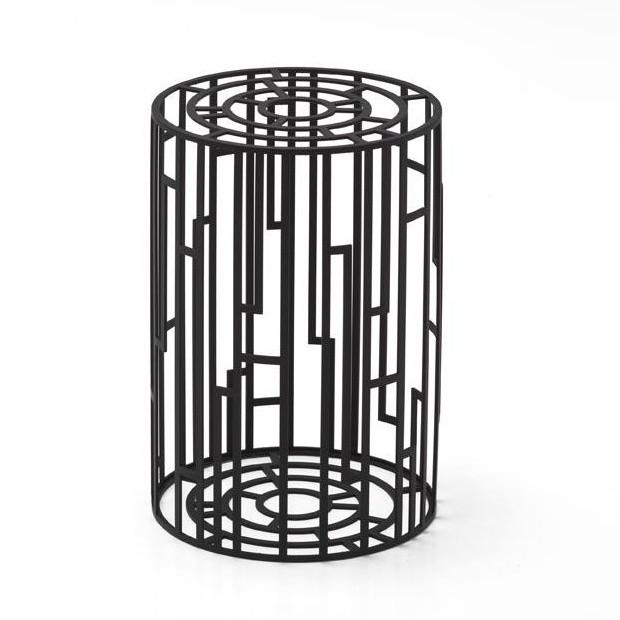 Moroso   Kub Stool / Side Table   Black/matt/size 1/HxØ