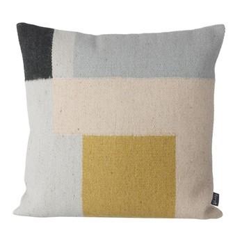ferm LIVING - Kelim Squares Kissen - mehrfarbig/LxB 50x50cm