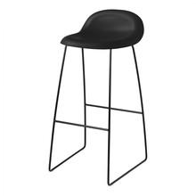 Gubi - Tabouret de bar 3D structure traîneau noir 75cm