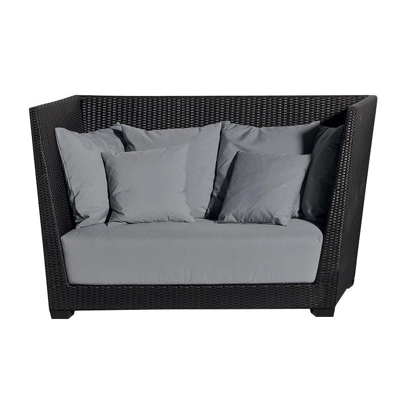 Two Seater Rattan Garden Furniture Inout 502 poly rattan outdoor 2 seater sofa gervasoni gervasoni inout 503 poly rattan outdoor 2 seater sofa cocoa browngrey workwithnaturefo
